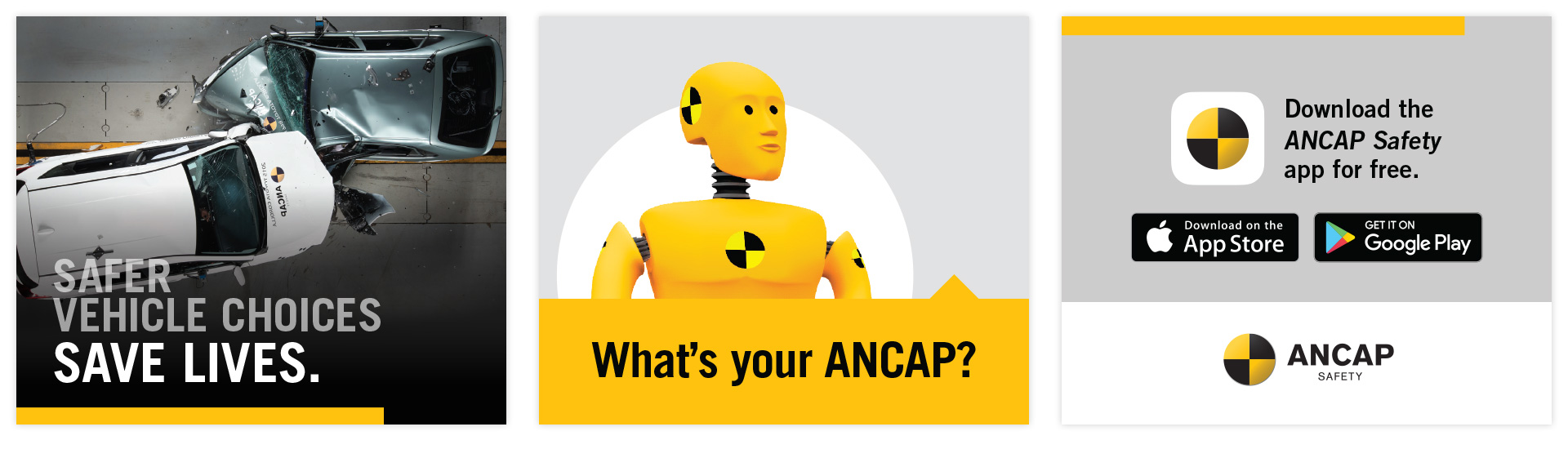 frames for the ANCAP MRec digital advertisement in a variety of formats