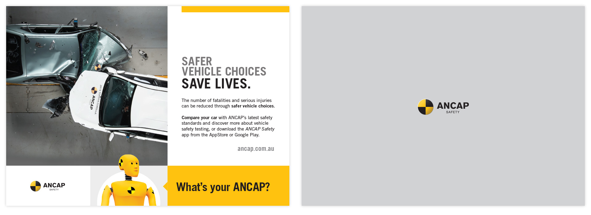 ANCAP postcard in a variety of formats
